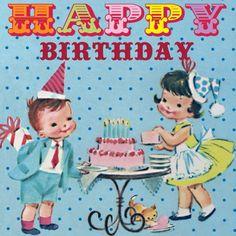 Vintage child's birthday card