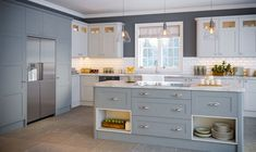 Shaker style retains popularity The shaker door is still a popular choice with kitchen buyers. 'In recent years we have experienced a 16 per cent increase in shaker style doors sales,' says Kieran McCracken from kitchen door manufacturer BA Components. Shaker Style Kitchen Cabinets, Shaker Style Kitchens, Kitchen Units, Kitchen Cabinet Doors, Cool Kitchens, Shaker Kitchen, Luxury Kitchen Design, Best Kitchen Designs, Interior Design Kitchen