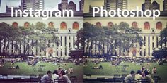 Awesome tips to recreate #instagram filters in photoshop. Design tips, graphic design, social media