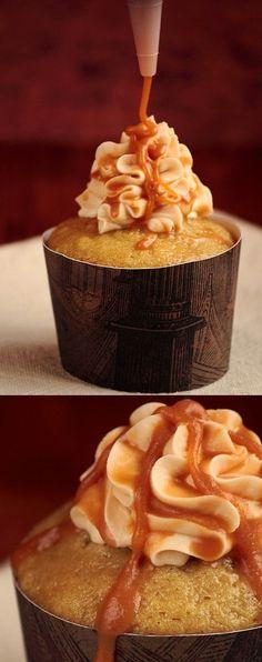 Butterbeer Cupcakes #orgasmafoodie #orgasmafoodiecupcakefaves #oh!!foodie #oh!!foodiecupcakefaves #cupcakelove #cupcakelover #cupcake