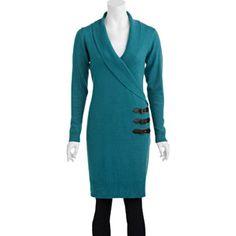 Women's Shawl Collar Sweater Dress