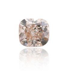 #Carat, #Sothebys, #Diamond, #Auction, #Jewelry, #Graff, #GIA, #Rings, #EngagementRing, #DiamondRing, #PinkDiamonds, #ColoredDiamonds 0.28ct fancy light pinkish brown diamond. A nice cushion shaped stone with eye clean SI1 clarity. This diamond is certified by GIA.