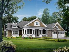 Popular Rambler with Unique Floorplan - 23224JD | 1st Floor Master Suite, Butler Walk-in Pantry, CAD Available, Craftsman, Den-Office-Library-Study, In-Law Suite, Luxury, Northwest, PDF, Photo Gallery, Premium Collection | Architectural Designs