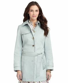 Brooks Brothers - Light Green - Single-breasted Trench Coat