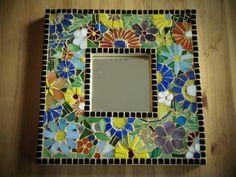 Hand Made Wildflower Mosaic Mirror by SarahJeanDuggan on Etsy