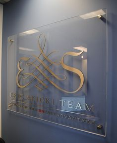 Eric Sticki Team - 3D wall sign