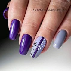 Make an original manicure for Valentine's Day - My Nails Beautiful Nail Designs, Beautiful Nail Art, Cool Nail Designs, Purple Nail Art, Purple Nail Designs, Purple Makeup, Trendy Nails, Cute Nails, Hair And Nails