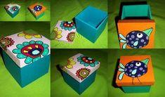 Resultado de imagen para cajas fibrofacil pintadas en acrilico Painted Boxes, Wooden Boxes, Rustic Toys, Glass Jewelry Box, Decoupage Art, Country Crafts, Wooden Art, Keepsake Boxes, Box Art