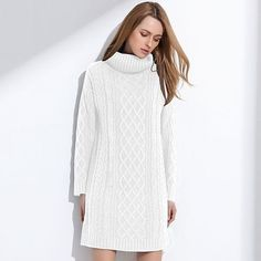 GAREMAY Women Sweater Turtleneck Pullover Women Sweater Dress Long Sweaters 2017 Spring White Casual Clothes For Women S061