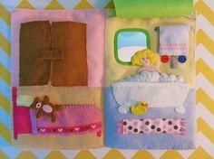 Dollhouse Quiet Book (bedroom and bathroom)