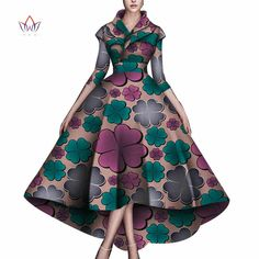Women African Clothing Bazin Riche Robe Africaine Dress New Arrival 2019 Women Plus Size Pure Cotton Long Mermaid Dress African Clothing For Men, African Dresses For Women, African Attire, African Women, African Clothes, African Dress Patterns, African Print Dresses, African Print Fashion, Red Peplum Dresses