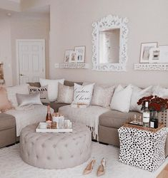 Personalize your home decoration with pretty digital printables. Shabby Chic Living Room Furniture, Living Room Decor Cozy, Home Living Room, Apartment Living, Living Room Designs, Living Room Inspiration, Home Decor Inspiration, Shabby Chic Apartment, Cheap Living Room Sets