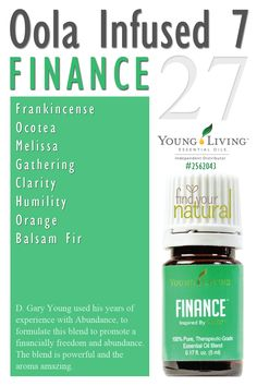 Infused 7 Kit - Finance: be the first to get the INFUSED 7 Finance Young Living essential oil from Oola Life