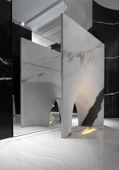 Alessandro La Spade for Antolini | Sir/A edition | MarbleDrop Fireplace