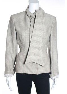NWT STELLA MCCARTNEY Multicolor Cotton Long Sleeve Zip Neck Tie Coat Sz 42 $1090 #StellaMcCartney #BasicCoat