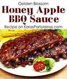 Delicious honey apple BBQ SAUCE RECIPE! Via KarasP