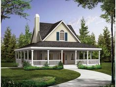 Floor Plan AFLFPW18685 is a beautiful 1072 square foot  Country  home design with 0 Garage Bays