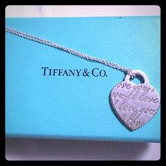 Tiffany & Co Loves Notes Pendant Tiffany Love Notes pendant in sterling silver on a 16 inch silver chain. Chain is NOT Tiffany. Comes with box. Tiffany & Co. Jewelry Necklaces