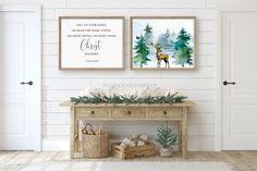 Christmas Signs, Christmas Decorations, Christmas Posters, Fall On Your Knees, Rose Gold Room Decor, Christmas Entryway, Or Mat, Tree Wall Art, Christmas Printables