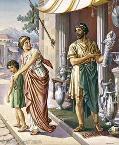 Demetrius the Silversmith Acts Religious Pictures, Bible Pictures, Paul's Missionary Journeys, Acts 19, Acts Of The Apostles, Holy Spirit Come, New Testament Books, Bible Illustrations, Ephesus