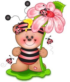 Cute Teddy Spring Decor PNG Clipart Picture