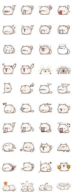 Sticker of a round and pretty cat - LINE Creators' Stickers