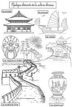 La Chine - Dix mois It's in French but his website has a great pdf that could be translated easily enough and applied to make learning fun! Chinese Crafts, Chinese Art, Coloring Books, Coloring Pages, Around The World Theme, New Year Art, Art Chinois, 6th Grade Art, Thinking Day