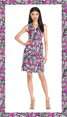 Laundry by SHELLI SEGAL Twin Print Sleeveless Wrap Dress - BUY IT  or SEE SIMILAR: http://thetripjunkie.com/shop