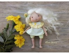 Cloth doll Art textile doll Collecting soft doll by ElenaGarus