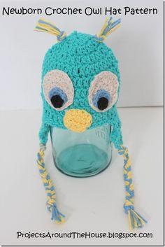 Crochet Owl Hat - Free Pattern