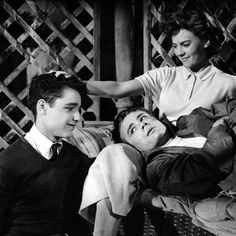 At just 16, she stole many hearts, starring in Rebel Without a Cause as Judy. Here, she's seen with her costars James Dean and Sal Mineo. #modcloth #styleicon