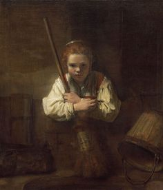 Rembrandt - Girl with a Broom 1651