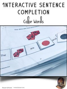 Build sentences while practicing color words with this interactive resource. Students in intervention or early education can work on 2 important language skills in this fun activity. Making Sentences, Complete Sentences, Early Education, Special Education, Communication Development, My Teacher, Speech And Language, Reading Comprehension, Speech Therapy