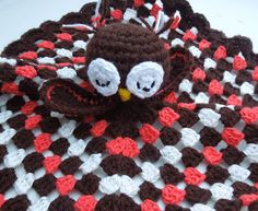 free crochet pattern : eulenschmusetuch