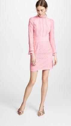 Costarellos Mesh Sheath Dress | SHOPBOP