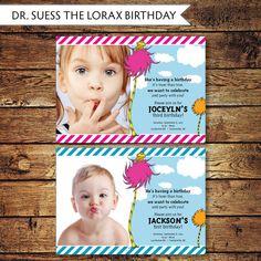 The Lorax Birthday Invite.