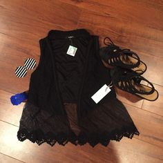 SALE NWT Papaya sheer vest Gorgeous sheer vest, great for music festivals! This is a FL-based item and can only be bundled with other FL items. Please check before bundling. TRADES LOWBALL REASONABLE OFFERS Papaya Tops