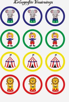 The Circus: Free Printable Mini Kit Circus Theme Cupcakes, Carnival Cupcakes, Circus Carnival Party, Circus Theme Party, Carnival Birthday Parties, Carnival Themes, Circus Birthday, Clown Cupcakes, Cupcakes Circo