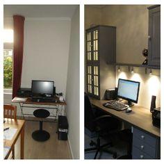 kantoortje voor en na
