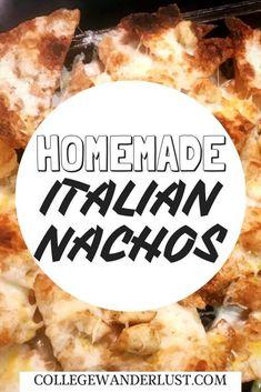 Mix it up with this delicious Homemade Italian Nacho recipe! Greek Recipes, Italian Recipes, Mexican Food Recipes, Healthy Recipes, Italian Nachos, Cinderella Recipe, Big Meals, Appetizer Recipes, Snack Recipes