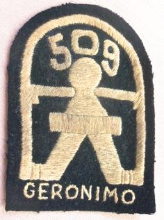 US World War II Army Airborne Paratrooper 509th Geronimo Uniform Patch