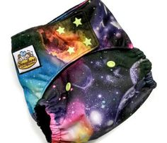Space Galaxy cloth diapers by Honeybuns!