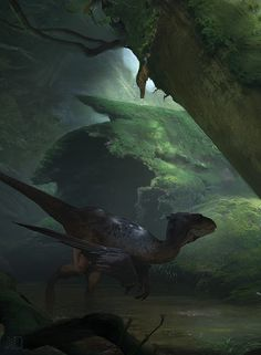 Revisiting the old love inbetween freelance stuff. Here's a little crop of something. I guess we all agree I should go with feathered ones this time, right? By Jorry Rosman Prehistoric Wildlife, Prehistoric World, Prehistoric Creatures, Dinosaur Art, Dinosaur Fossils, Fantasy Creatures, Mythical Creatures, Feathered Dinosaurs, Dinosaur Pictures