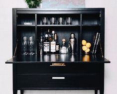 Ave Home (@ave_home) • Instagram photos and videos Drinks Cabinet, Liquor Cabinet, Secretary, New Orleans, Drink Stations, Storage, Bar Cart, Presentation, Instagram