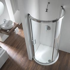 Frameless Quadrant Shower Doors is now available at QS Supplies at cheap prices. We also stock Offset Quadrant Enclosures. Big Bathrooms, Small Bathroom, Bathroom Ideas, Bathroom Remodeling, Master Bathroom, Shower Ideas, Open Plan Showers, Quadrant Shower Enclosures, Bathroom Before After