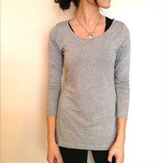 Go Long Crew, Heather Grey- Albion. Yoga shirt :)