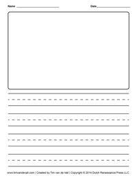 Story paper for kindergarten
