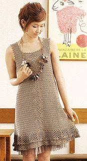 Hobby lavori femminili - ricamo - uncinetto - maglia: abito uncinetto