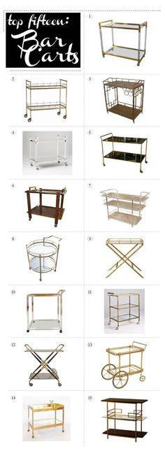 top 15 bar carts