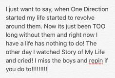 I know this sounds lame but Its true! Only true Directioners would understand!